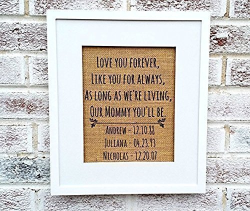 Love you forever sign, mothers day gifts from daughter, personalized gifts for women
