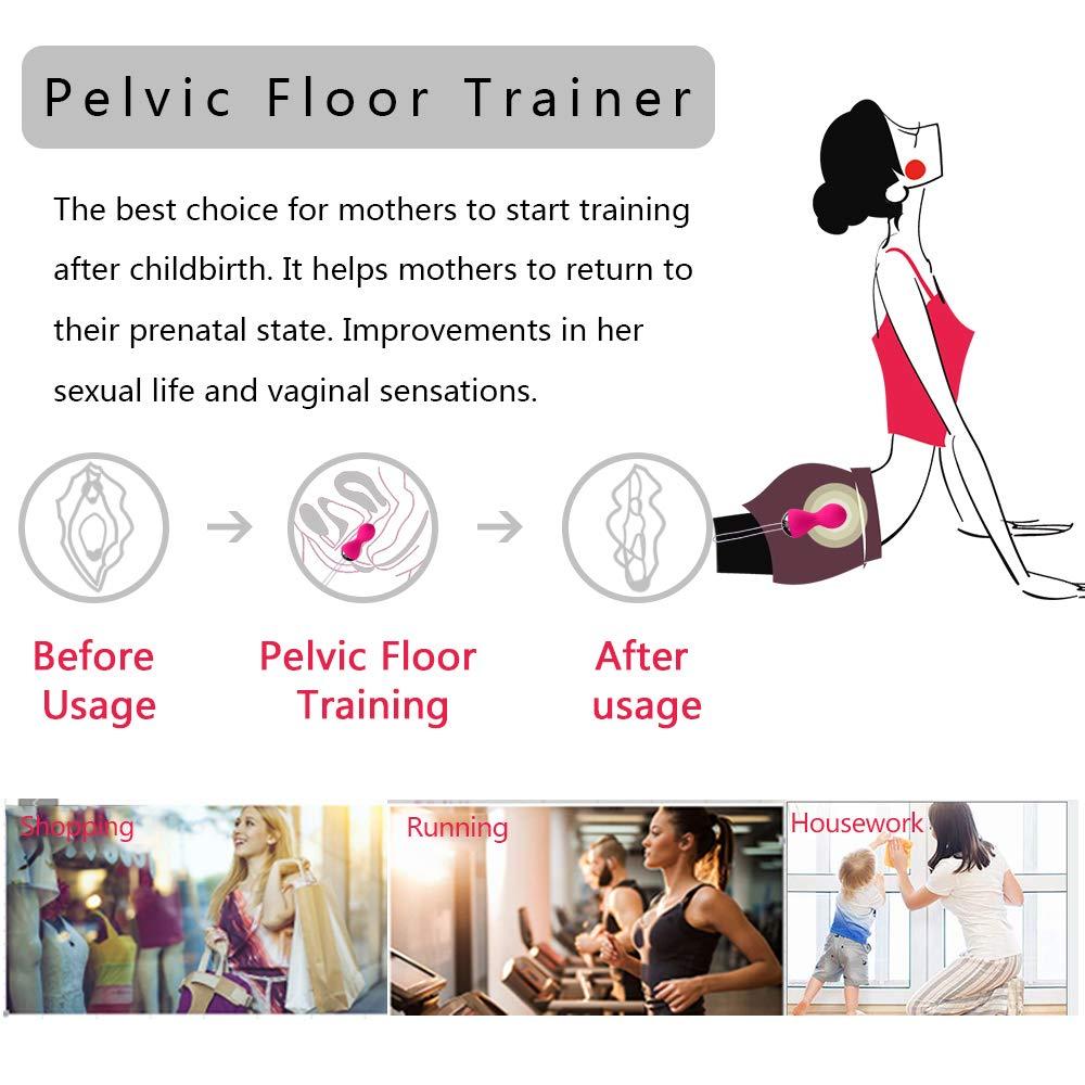 Kegel Exercise Weights for Women - Kegel Balls for Beginners & Advanced Pelvic Floor Exercises, Silicone Kegel Balls with Vibration & 3 Weights for Regaining Bladder Control