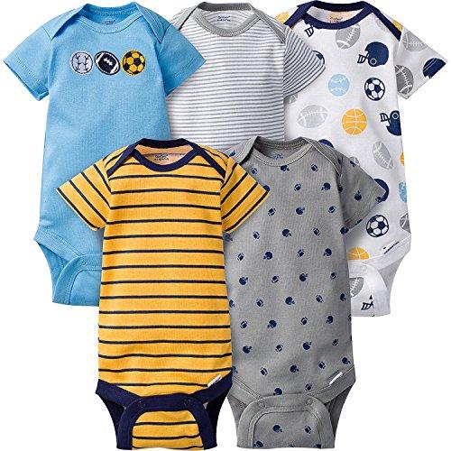 Gerber Baby-Boys Variety Onesies Brand Bodysuits (3-6 months, sport.)