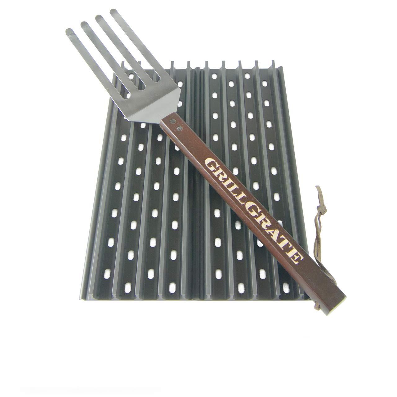 "GrillGrate Set of Two 13.75"" (Interlocking) + Grate Tool"