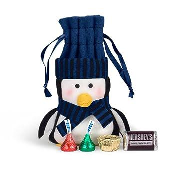 Amazon.com : Christmas Gifts Felt Penguin HERSHEY\'S Chocolate Bag ...