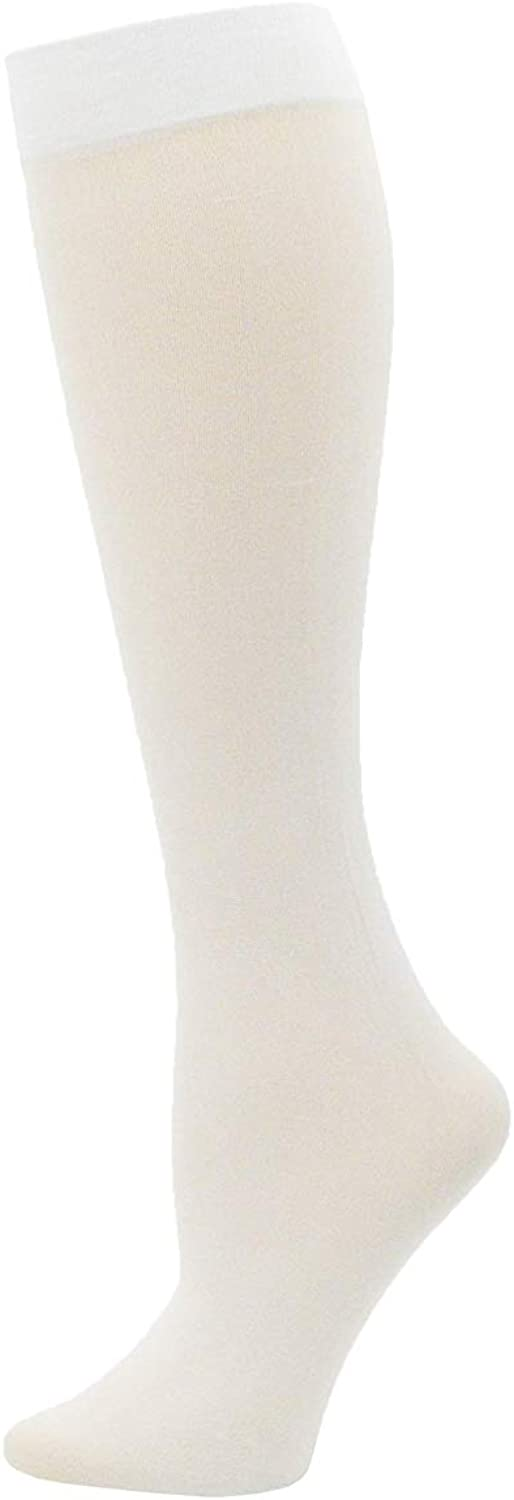 6 Pairs Womens Trouser Socks Silky Opaque Stretchy Nylon Knee Highs With Spandex