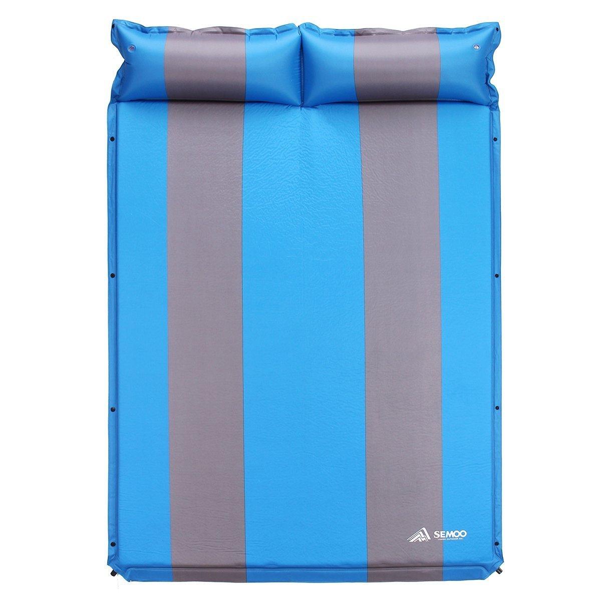 Semoo Esterilla - Esterilla de Camping Auto-Hinchable, 190T Polyester, Superficie de la colchoneta Repelente al Agua, con Opción a juntarlo con el Cojín ...