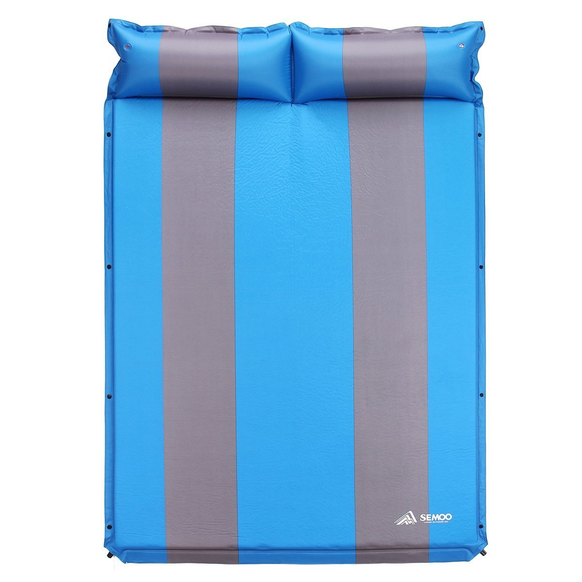 SEMOO 2 Person Self-Inflating Camping Sleeping Pads, 190T Polyester Water Repellent Coating Mat with Attached Inflatable Pillow by SEMOO