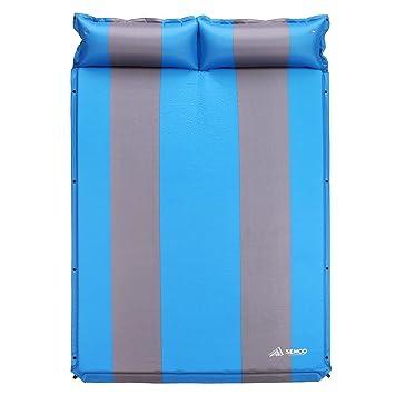 Semoo Esterilla - Esterilla de Camping Auto-Hinchable, 190T Polyester, Superficie de la