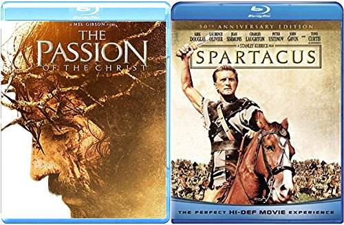 Legendary Tale of Spartacus Stanley Kubrick & Passion of the Christ 2-Blu Ray Film Bundle by