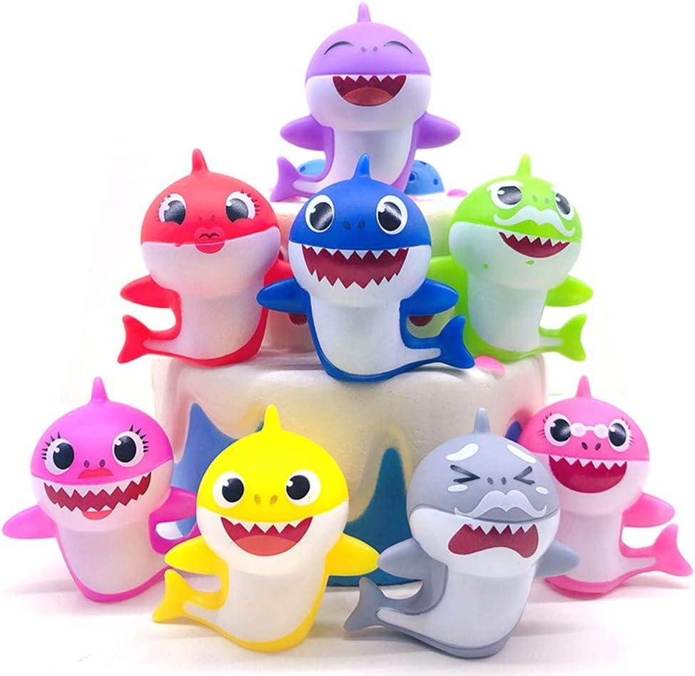 Amazon.com: Adornos para tarta de tiburón para niños ...