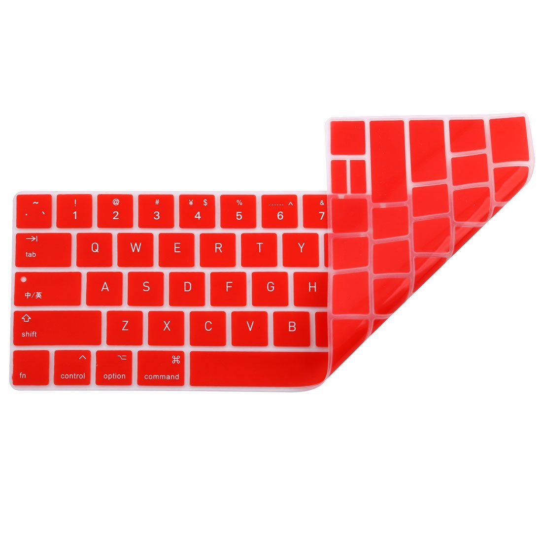 Amazon.com: eDealMax portátil de silicona teclado de ordenador del Protector de la piel cubierta roja Para MacBook Pro 13: Electronics