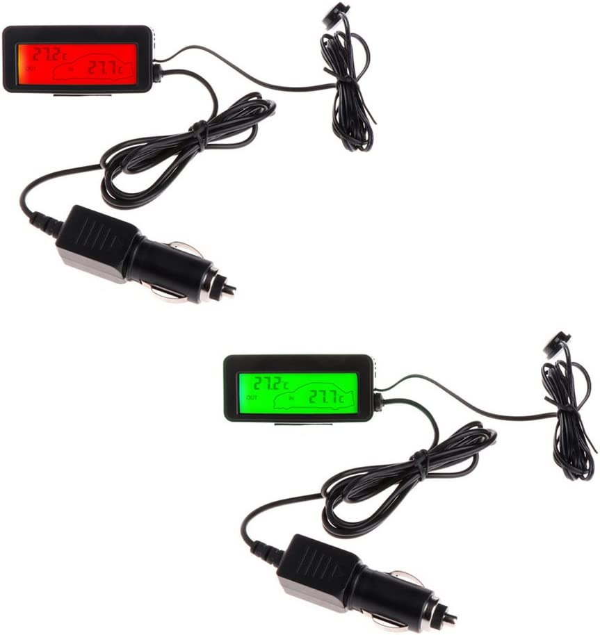 con sensore a cavo cavo da 1,5/m Fogun Mini termometro digitale per auto 12/V display LCD interno ed esterno