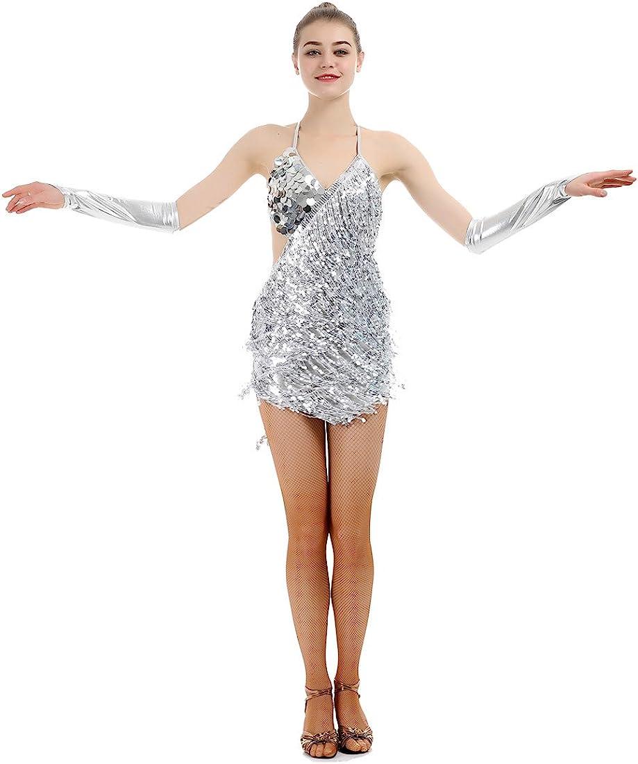 iMucci Nappa Latino Danza Vestito Donna Samba Tango Abiti Sala da Ballo