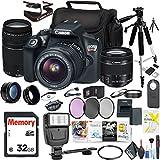 Canon EOS Rebel T6 DSLR Camera 18-55mm Lens Canon EF-S 75-300mm Lens, Mac Essentials Photo Suite Accessories Bundle