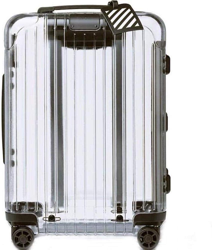100% Transparente Marca Rolling Luggage Spinner Hombres Internacional Trolley Maleta Ruedas Mujeres Cabina Bolsas de Viaje 31 Pulgadas.