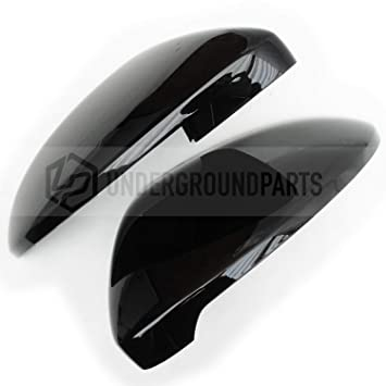 Underground Parts Gloss Black Left Right Side Door Wing Mirror Covers Caps