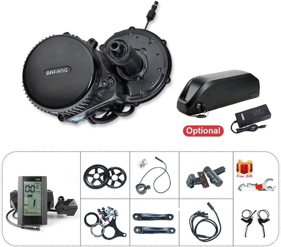 Bafang Bicicleta eléctrica BBS02B 48V 750W Kit de conversión de Bicicleta de montaña con Motor Central Bicicleta de EBike con batería de 48V 13/16/17.5Ah Batería de Litio