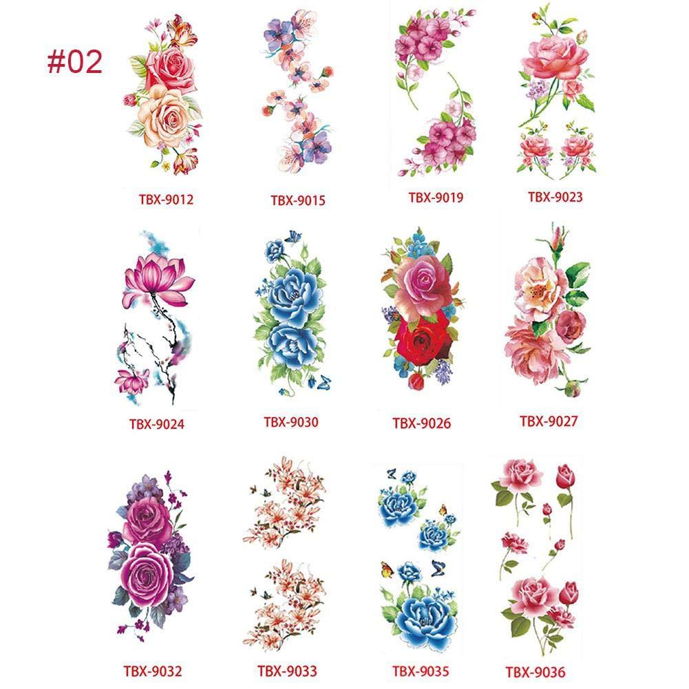 WUYANSE - Tatuajes temporales de flor de loto con flores de cerezo ...