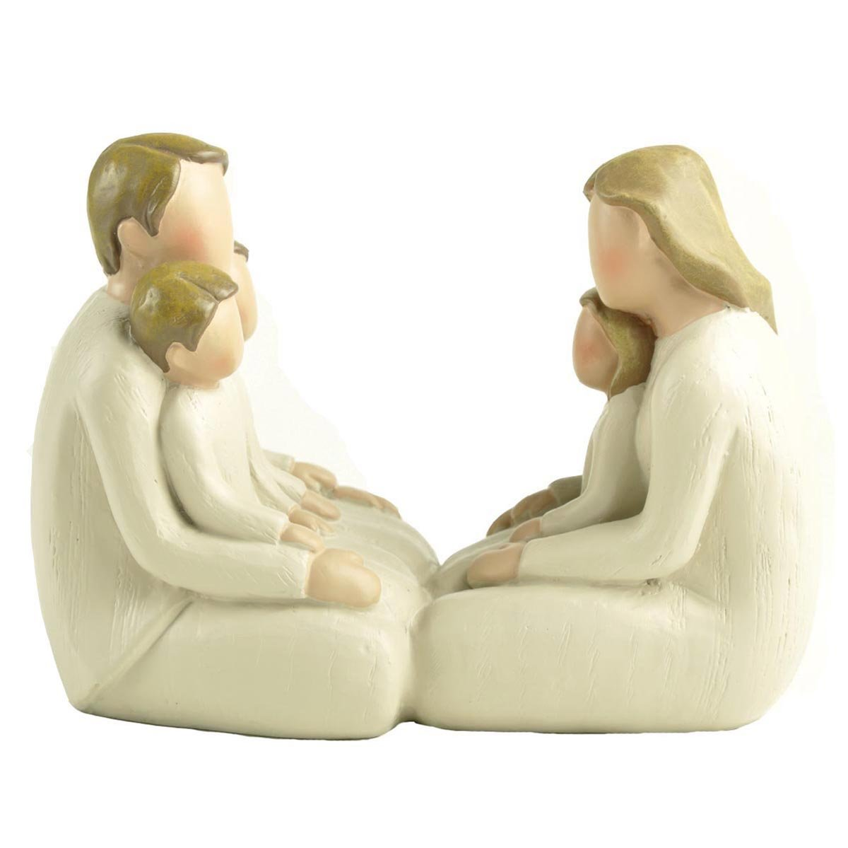 "ENNAS 3.75"" H Happy Faceless Family of Five Figurines Collectibles Home Decor/Tabletop Gifts"