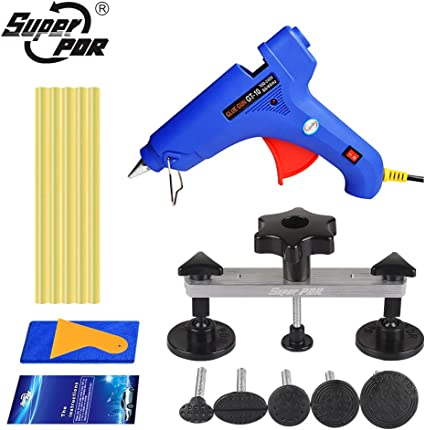 32pcs Dent Puller Car Body Damage Tabs Tools Sets Glue Gun Kit w//Bag