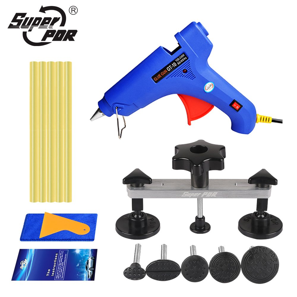 Super PDR 11pcs bridge Glue Puller kit Car auto body Paintless Dent Removal Repair Tool Kit Pops-a-dent Dent & Ding repair