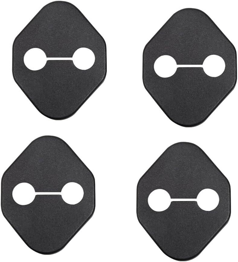 Black Carbon Fiber Texture BeHave Autos Car Door Lock Cover Protective Fit for Toyota RAV4 2013 2014 2015 2016 2017 2018 4 Pieces Car Door Latches Striker Trim Lip knob Case