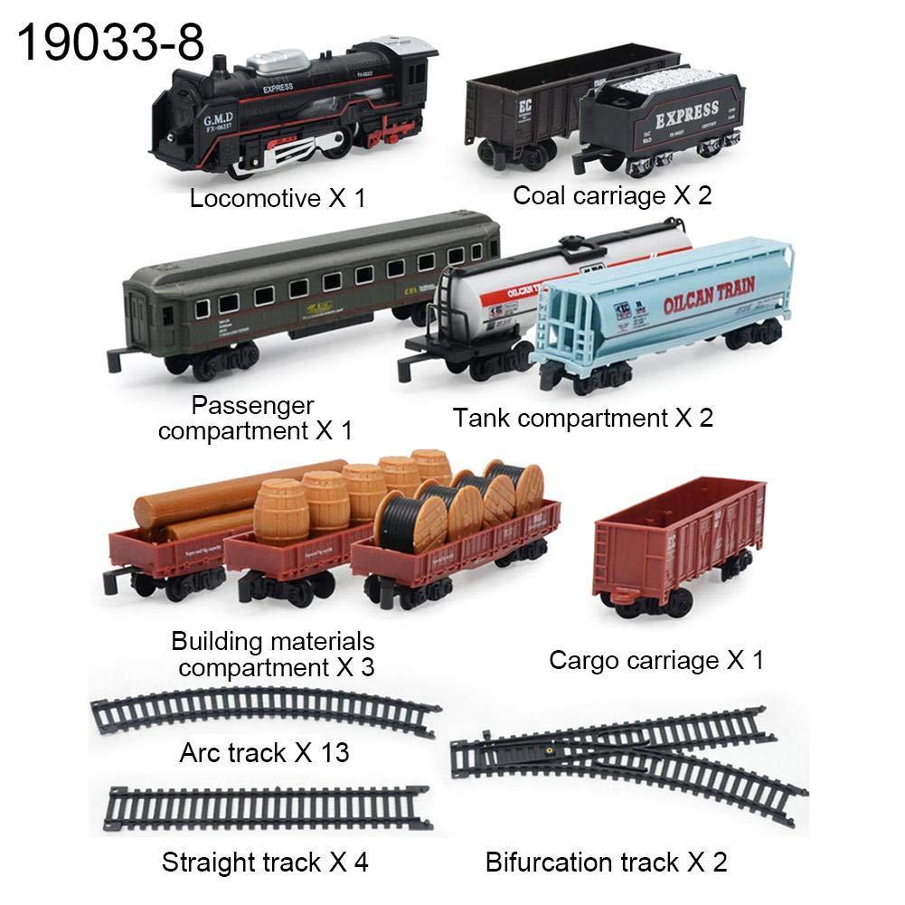 Tren de Electrico con Luces y Sonidos Realistas Modelo de Tren Clásico Con Pista de Costura de Bricolaje: Amazon.es: Bebé