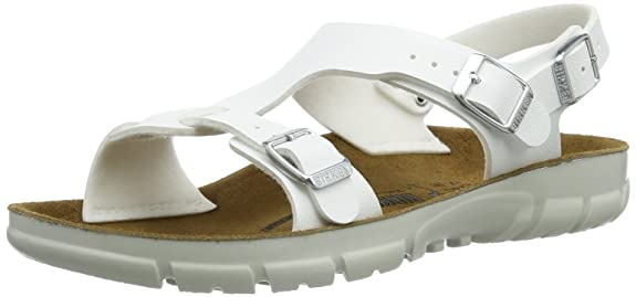 Saragossa White synthetic Sandals Narrow Width