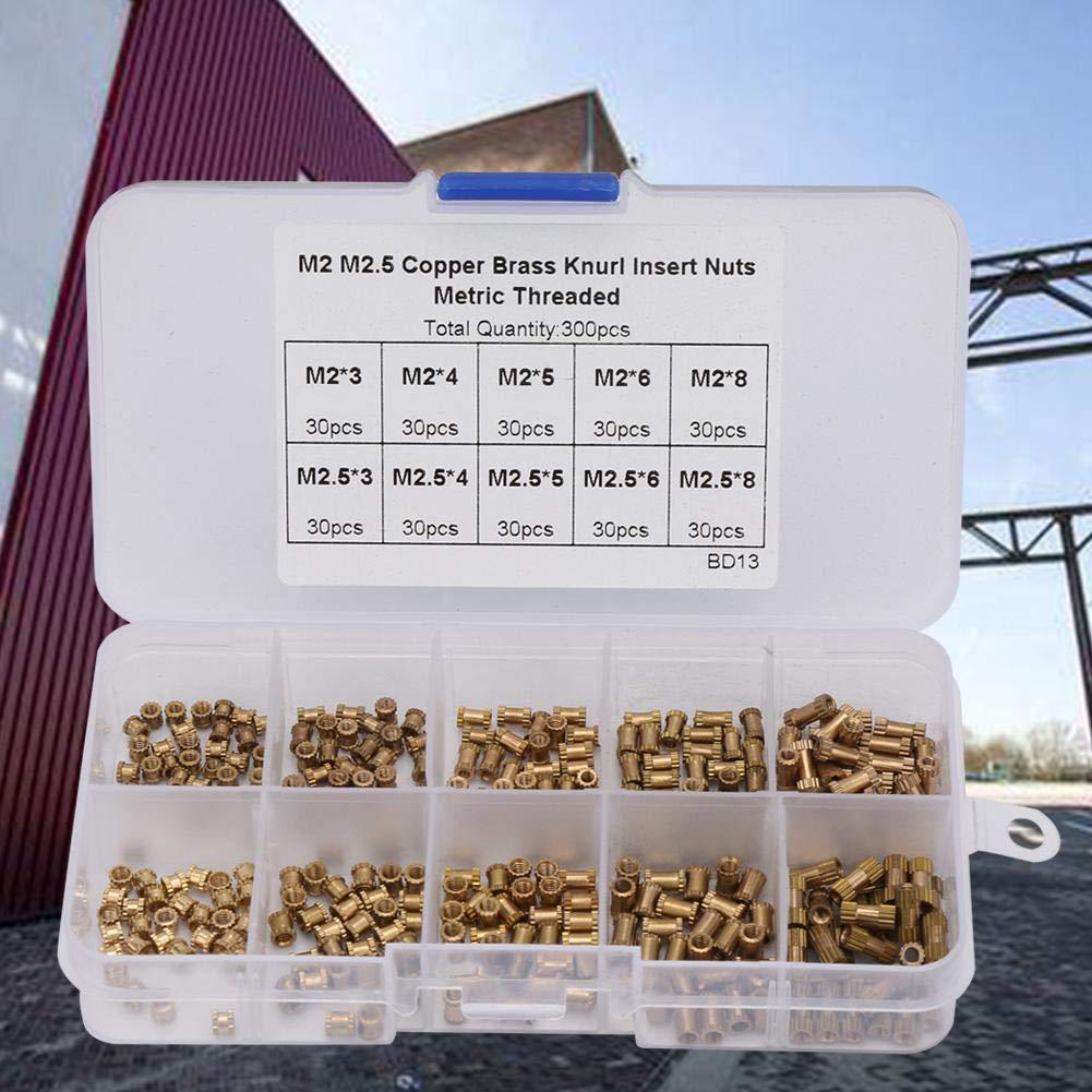 Kit assortimento dadi da 300 mm M2 M2.5 inserto in ottone inserti filettati dado zigrinato dadi zigrinati