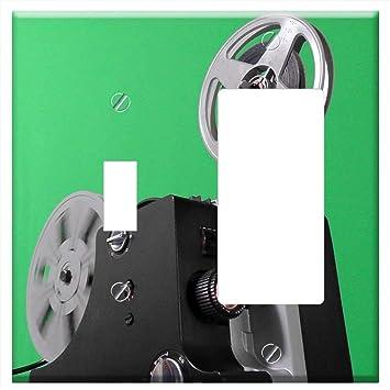 Cubierta para placa de pared - Proyector de cine película de ...