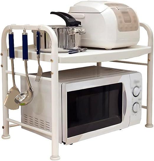 Cocina Horno de microondas Racks 1 Capa de Acero Inoxidable de 2 ...