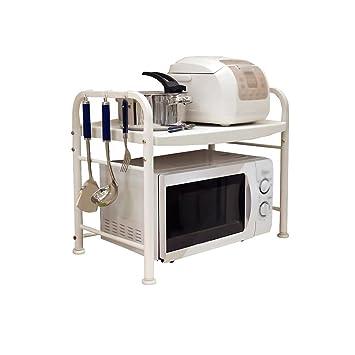 Cocina Horno de microondas Racks 1 capa de acero inoxidable de 2 capas Rack de almacenamiento