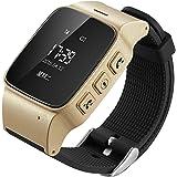 Sopear Enfants âgés GPS Tracker Smart Watch SOS fonction montre-bracelet lbs WiFi sécurité anti-Lost localisateur Watch