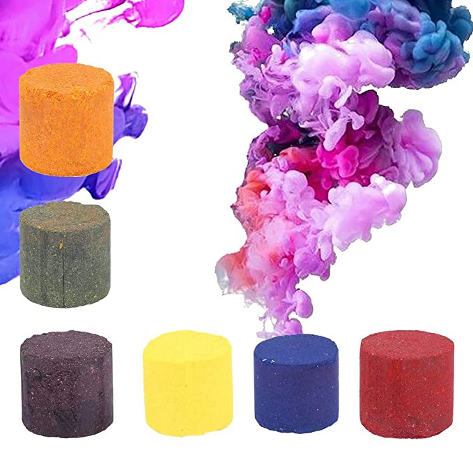 QUICKLYLY-6pcs Pastel de Humo Efecto de Humo Colorido ...