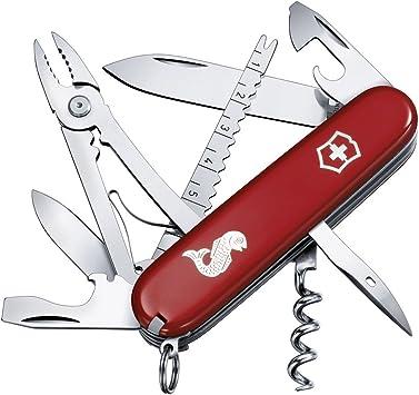 Victorinox V13653.72 Navaja Medio Angler, Rojo, M: Amazon.es: Deportes y aire libre