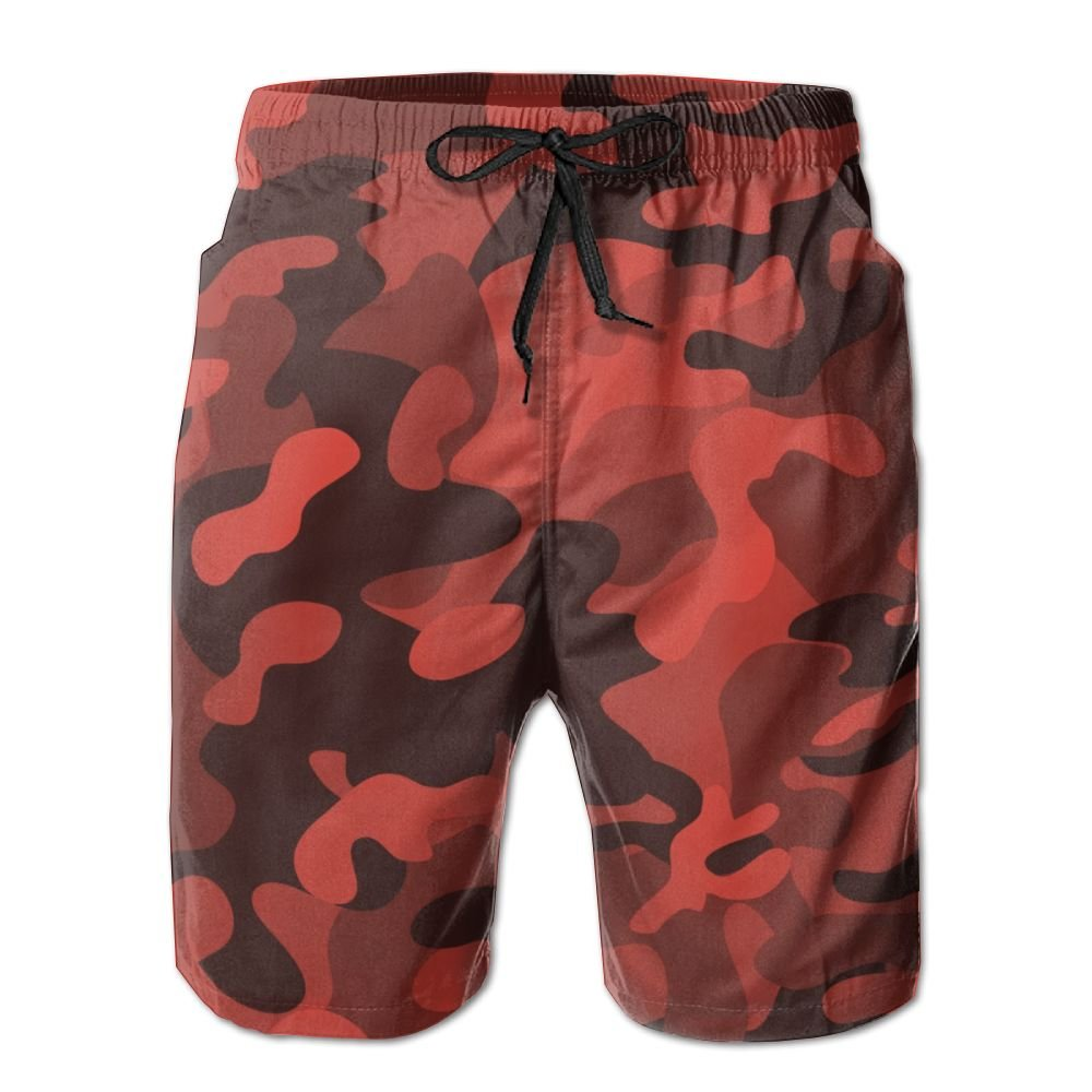 Amazon.com   Most Fashion Maker Mens Beach Board Shorts Red Camouflage Camo  Athletic Short Pants   Sports   Outdoors 05255d39797