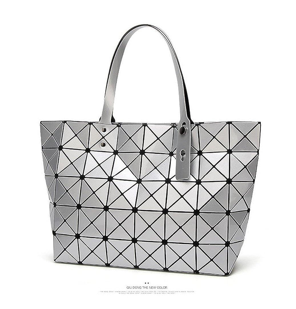 d86e8192dd6c Amazon.com  Bao Women Matte Sac Baobao Bag Diamond Tote Geometry Quilted Shoulder  Bags Plain Folding Handbags Bolso black  Clothing