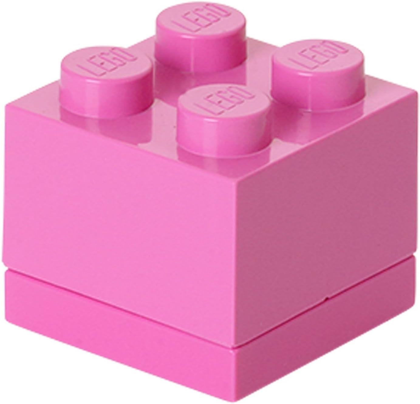 Lego - 40111739 - Ameublement Et Décoration - Boîte Miniature - Rose Foncé - 4 Plots