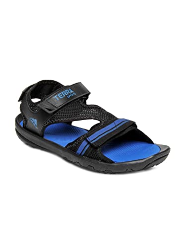 Adidas KERIO MESH D70556 Men Black Blue Floater Sandal (10 UK).  Buy Online  at Low Prices in India - Amazon.in 8b0a0f060