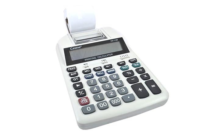 Calculadora Electrónica impresora 12 dígitos Impresión a cinta ...
