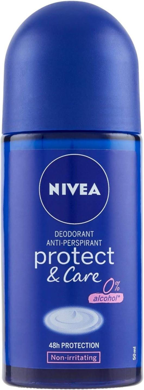 Nivea Desodorante Mujer Protect & Care Roll-on, 50 ml, pack de 3 ...