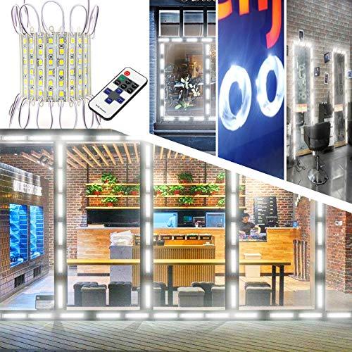 Storefront Lights, EAGWELL 40 Ft 80 Pieces Store Window LED Lights 4 Sets 5054 LED Module Light White Window Lights (5050 Upgraded Version Sign Light)