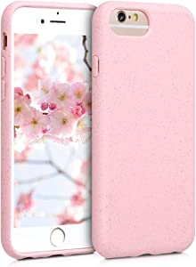 kalibri Wheat Straw Case Compatible with Apple iPhone 6 / 6S - Matte Phone Cover Made of TPU and Wheat Straw - Dusty Pink