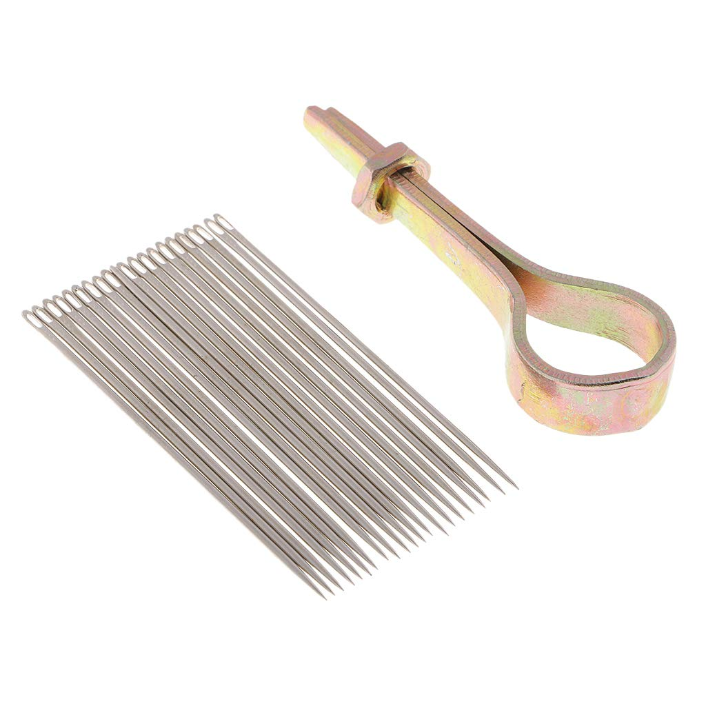 Baosity 22 Needles with Metal Handle Sewing Awl Hand Stitcher Shoe Repairing Tools