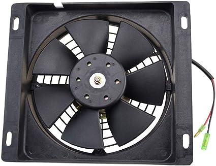 GOOFIT Ventilador Radiador 12V Moto DC Refrigerante Cuadrado para ...