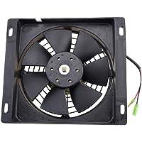 GOOFIT Ventilador Radiador 12V Moto DC Refrigerante Cuadrado
