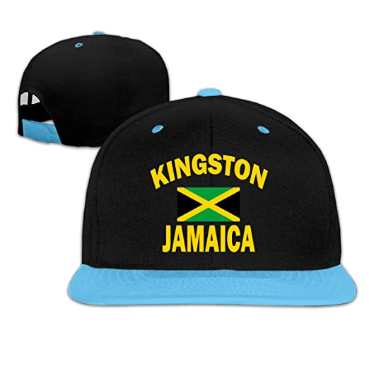 da286feb18d Boys Girls Adjustable Fashion Hat Kingston Jamaica Flag Fitted Hats for  Under 13 Blue at Amazon Men s Clothing store