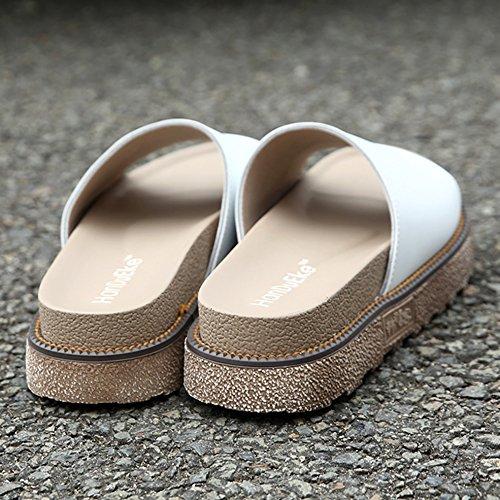 Chaussures Weiß SUNAVY plateau à femme Style3 H4zzwq