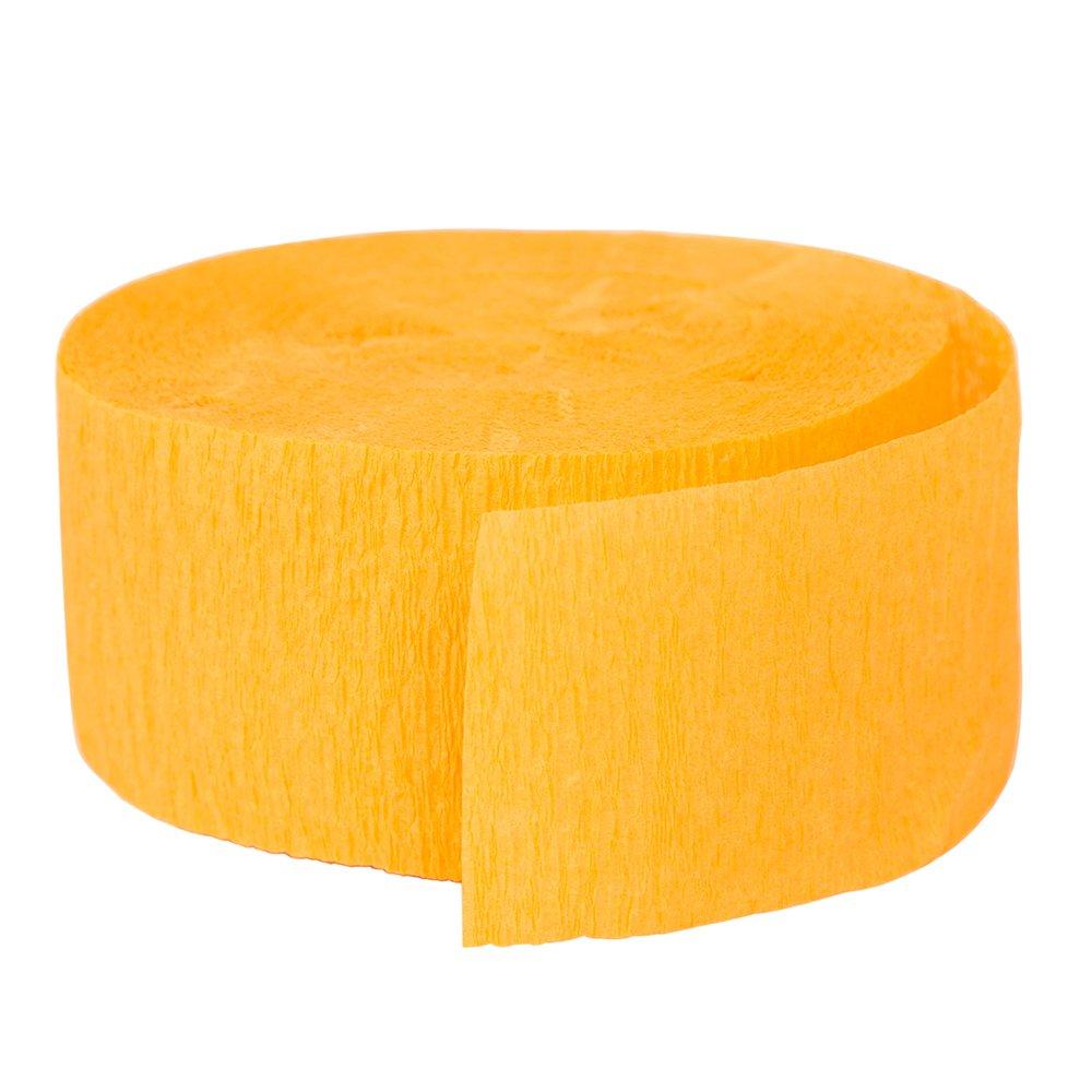 Color amarillo dorado Unique Party- Serpentina de papel crep/é para fiestas 24 cm 6342