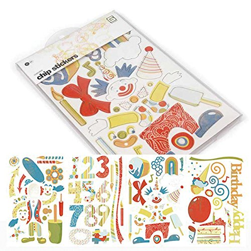 BasicGrey Cupcake Die-Cut Chip Stickers, Shapes