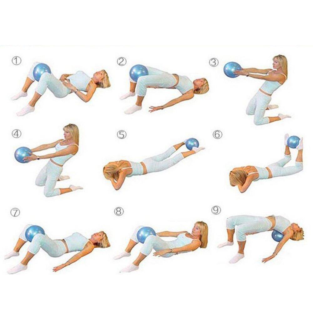 Rungao 25cm Yoga Bola Mini Pelota Pequeña Pilates Ejercicios de Fitness pilates, bola morada de la estabilidad-Rosa: Amazon.es: Deportes y aire libre