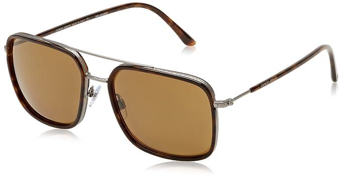 251c655c2dd ARMANI Men s 6031 0AR6031 300383 58 Rectangular Polarized Sunglasses ...