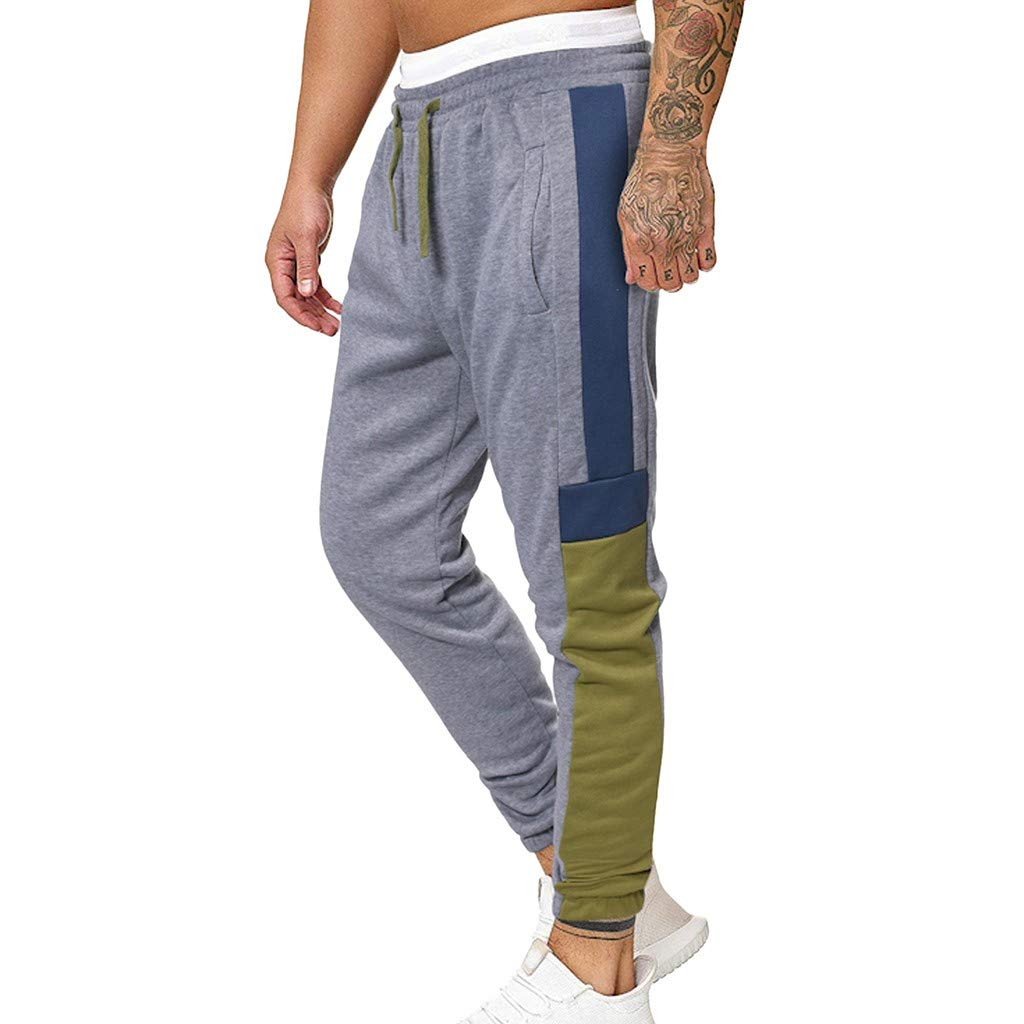 Men's Jogger Pant Jeans Combat Elasticated Waist Casual Trouser Outdoor Hiking Sweatpants M-3XL